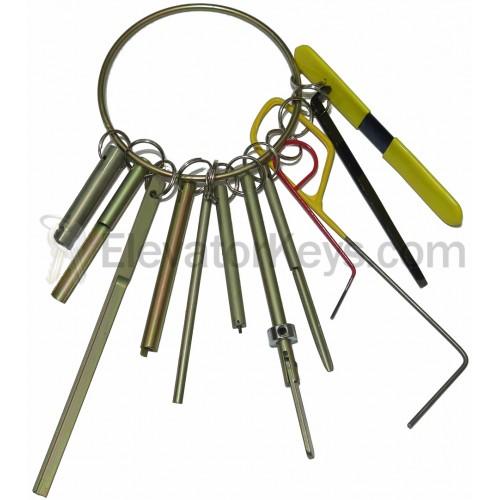Fire Hooks Unlimited Elevator Door Key Set ...  sc 1 st  ElevatorKeys.com & ElevatorKeys.com - Fire Hooks Unlimited Elevator Door Key Set